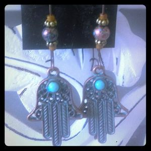 New Bohostyle Hippy Earrings Hamsa